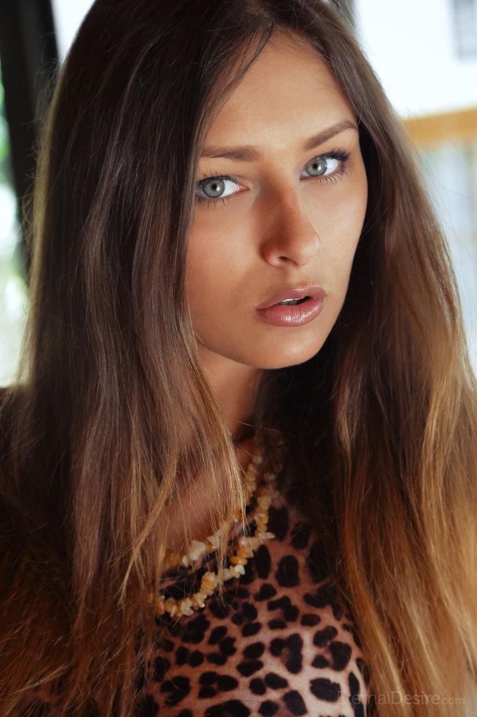 Cute Brunette Yarina A in Pernise | Cute Babes