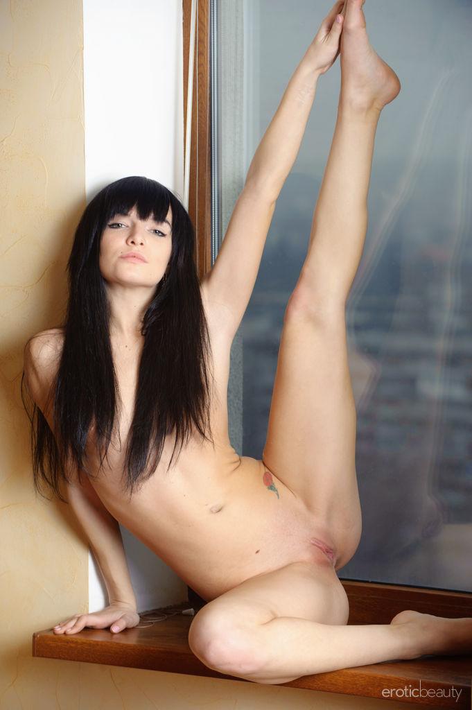Cute Nude Brunette Svajone Sweet Pussy