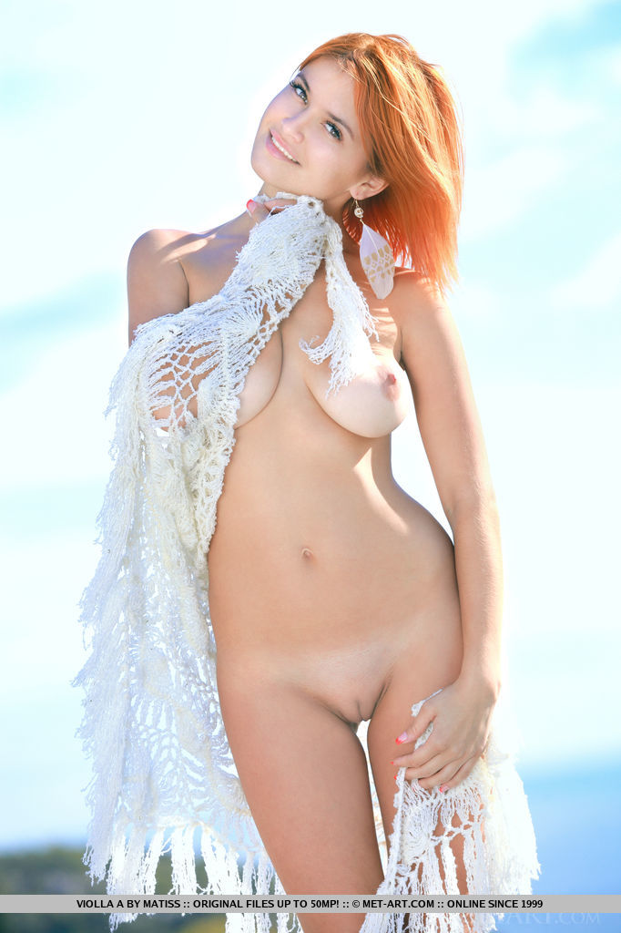 Cute redhead babe Violla A posed in MetArt photo set Lixen by Matiss